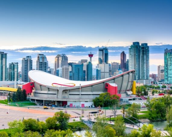 View of Calgary city in Canada